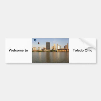 Toledo Ohio City Bumper Sticker
