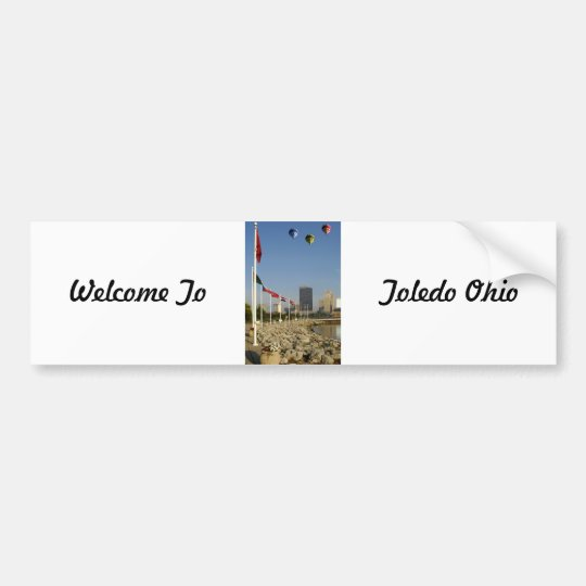 Toledo Ohio City Bumper Sticker