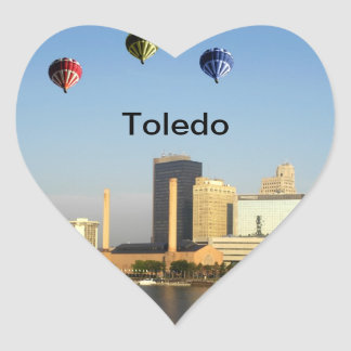 Toledo Ohio City Heart Sticker