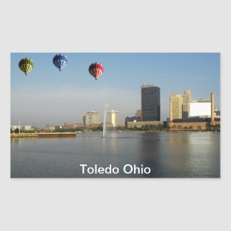 Toledo Ohio City Rectangular Sticker