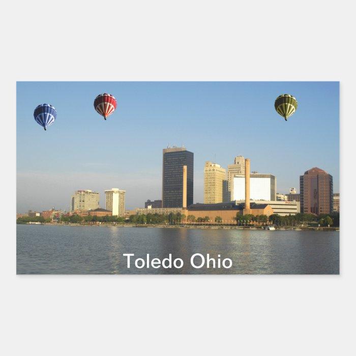 Toledo Ohio City Rectangular Sticker
