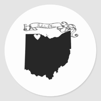 Toledo Ohio Classic Round Sticker