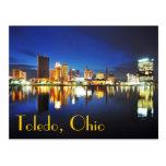 Toledo, Ohio en la oscuridad Tarjeta Postal