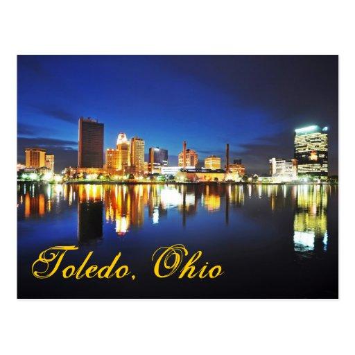 Toledo, Ohio en la oscuridad Tarjetas Postales