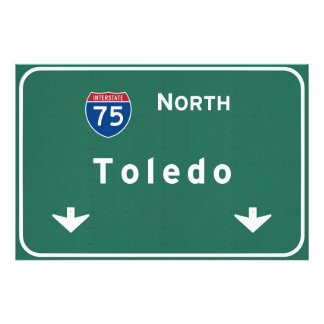 Toledo Ohio oh Interstate Highway Freeway : Photo Print
