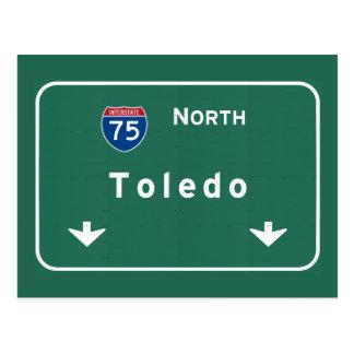 Toledo Ohio oh Interstate Highway Freeway : Postcard