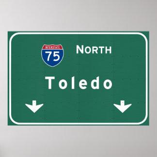 Toledo Ohio oh Interstate Highway Freeway : Poster