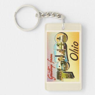 Toledo Ohio OH Old Vintage Travel Souvenir Keychain