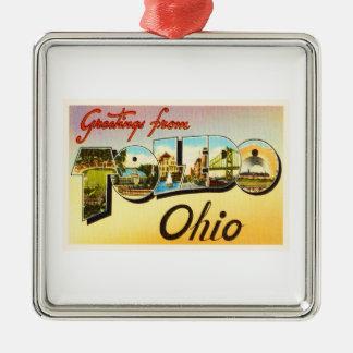 Toledo Ohio OH Old Vintage Travel Souvenir Metal Ornament