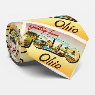 Toledo Ohio OH Old Vintage Travel Souvenir Neck Tie