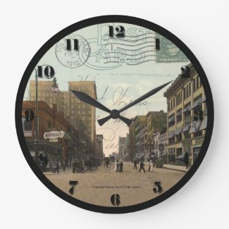 Toledo Ohio Post Card Clock - Superior St 1912
