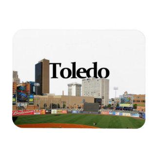 Toledo Ohio Skyline with Toledo in the Sky Magnet