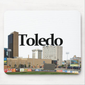 Toledo Ohio Skyline with Toledo in the Sky Mouse Pad