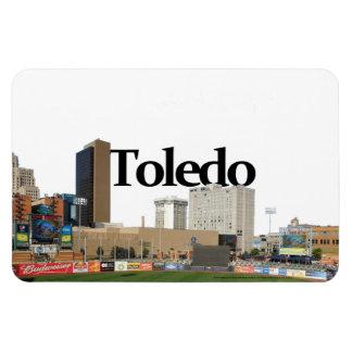 Toledo Ohio Skyline with Toledo in the Sky Rectangular Photo Magnet