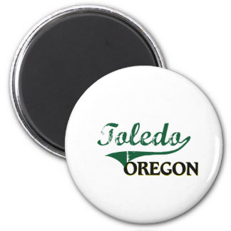 Toledo Oregon Classic Design 2 Inch Round Magnet