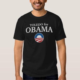 TOLEDO para el personalizado de Obama su ciudad pe Playera