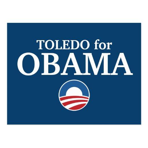 TOLEDO para el personalizado de Obama su ciudad Tarjeta Postal
