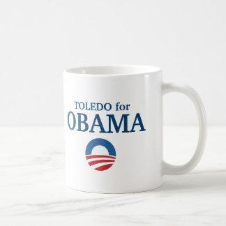 TOLEDO para el personalizado de Obama su ciudad Taza Básica Blanca