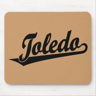 Toledo script logo in black mouse pads