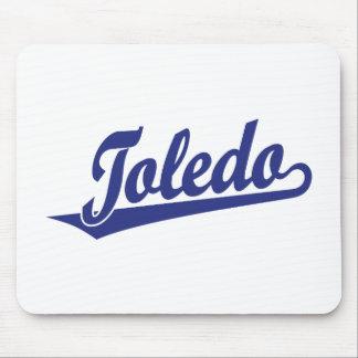 Toledo script logo in blue mousepads