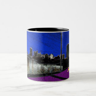 Toledo skyline Two-Tone coffee mug