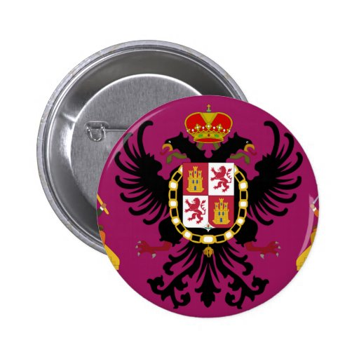 Toledo (Spain) Flag Pinback Button