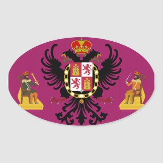 Toledo (Spain) Flag Oval Sticker