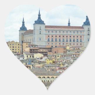 Toledo, Spain Heart Sticker