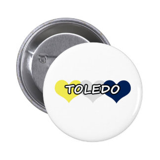 Toledo Triple Heart 2 Inch Round Button