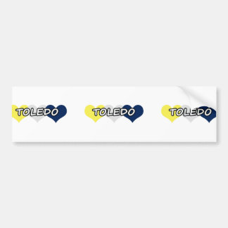 Toledo Triple Heart Bumper Sticker