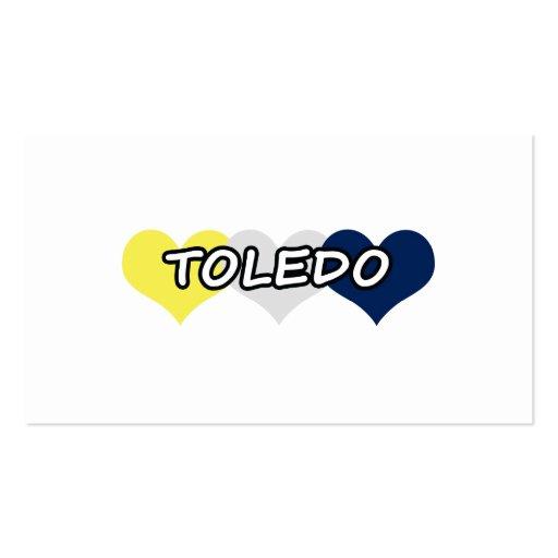 Toledo Triple Heart Business Card Templates