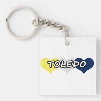 Toledo Triple Heart Keychain