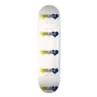 Toledo Triple Heart Custom Skate Board