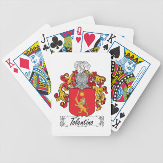 Tolentino Family Crest Bicycle Poker Cards