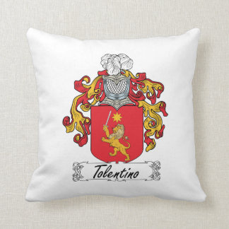 Tolentino Family Crest Throw Pillow