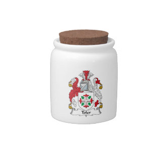 Toler Family Crest Candy Jars