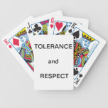 """""""TOLERANCE and RESPECT"""" Playing Cards"""