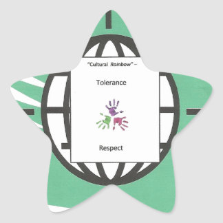 """""""Tolerance and Respect"""" Product Star Stickers"""