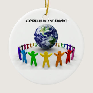 TOLERANCE AND UNITY HOLIDAY ORNAMENT