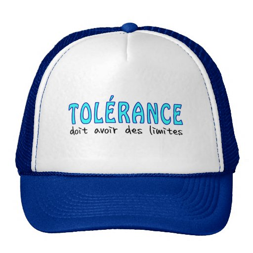 Tolérance doit avoir des limites baseball caps