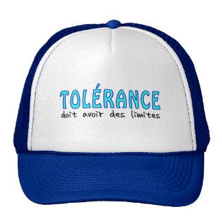 Tolérance doit avoir limites gorro de camionero