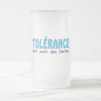 Tolérance doit avoir limites taza de cristal