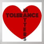 Tolerance Matters Poster