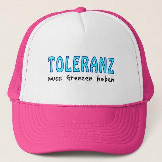 Tolerance must have borders trucker hat