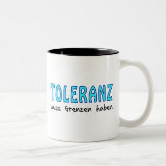 Tolerance must have borders Two-Tone coffee mug