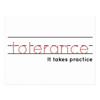 tolerance | Practice Postcard