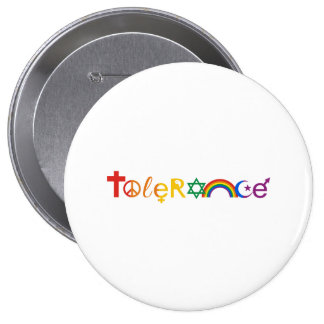 TOLERANCE PRIDE - png Pinback Buttons