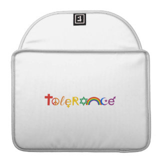 TOLERANCE PRIDE -.png Sleeve For MacBook Pro