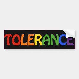 TOLERANCE RAINBOW -.png Car Bumper Sticker