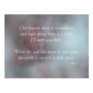 Tolerance Rumi Quote Postcard